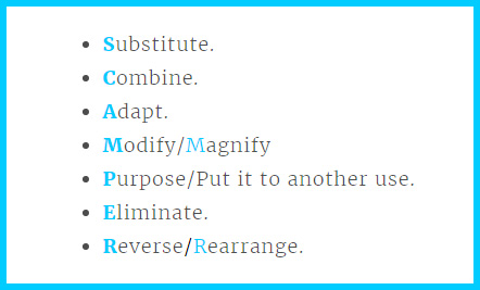 The SCAMPER model